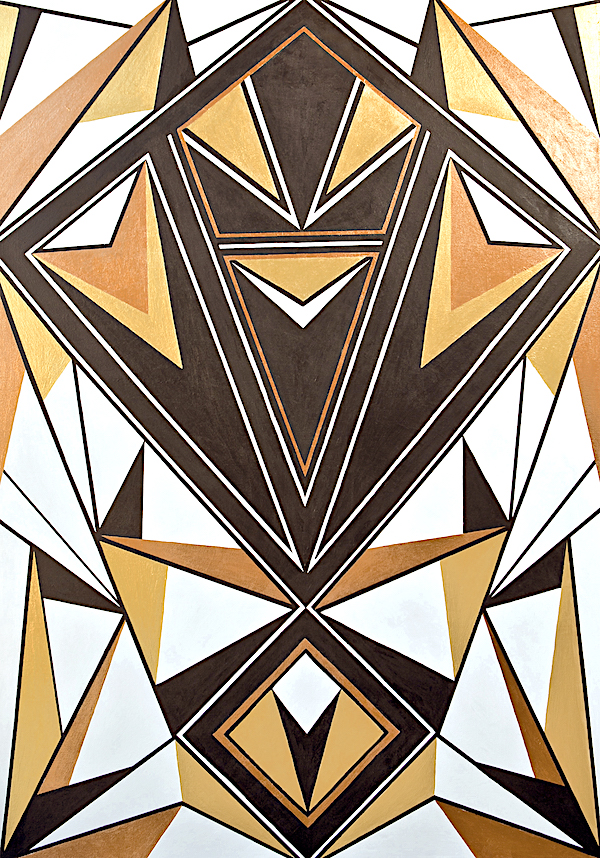 Tribal Symmetry Wonder Woman Painting
