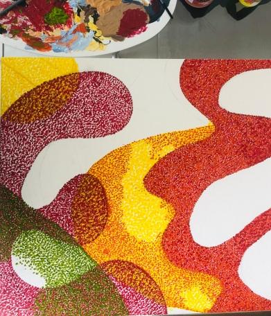 painting process modern art